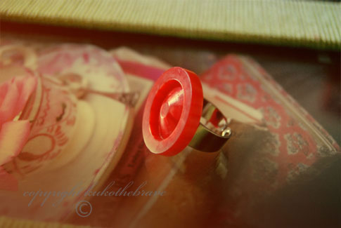 Handmade Vintage Button Ring