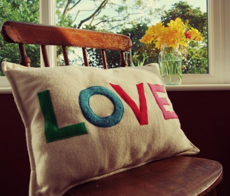 Vintage Chair and LOVE