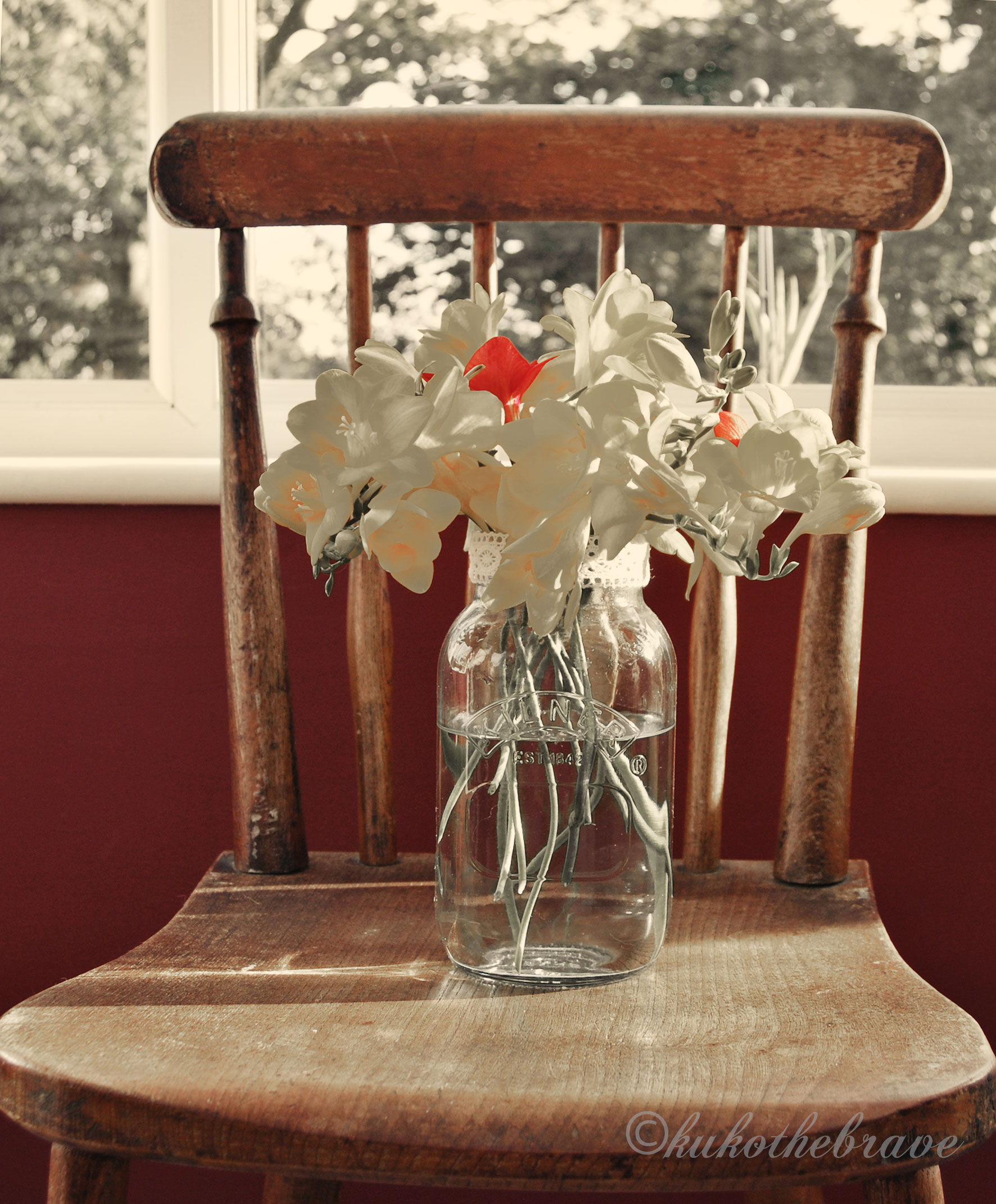 Vintage Chair and Freesia's